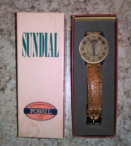 Vintage Fossil Sundial Watch