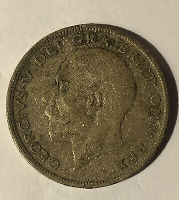 British Silver Half Crown - 1929 - King George V