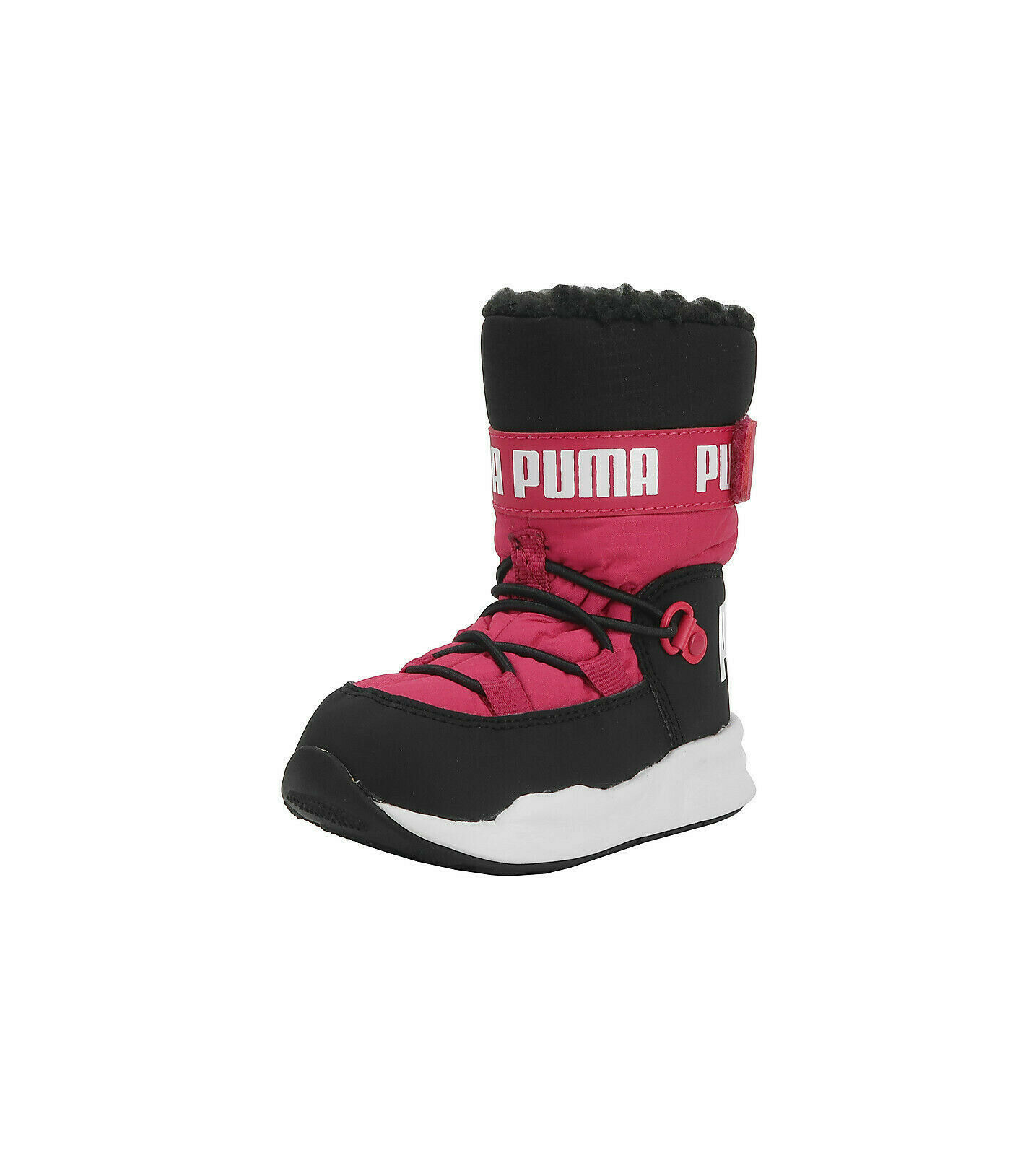 PUMA Trinomic Hot Pink Black White Snow Boots Water Proof Infants Babies Shoes