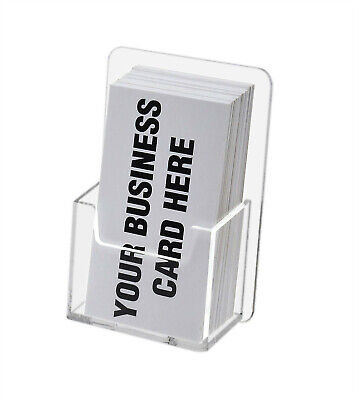Vertical Business Card Holder Gift Card Display Single Pocket Wall Mount Qty 10