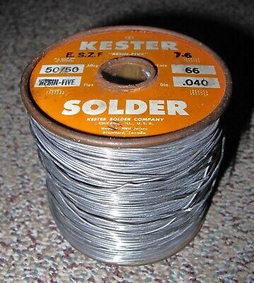 Kester Solder 5050 Core 66 .040 Resin-five 4lb. 12oz.