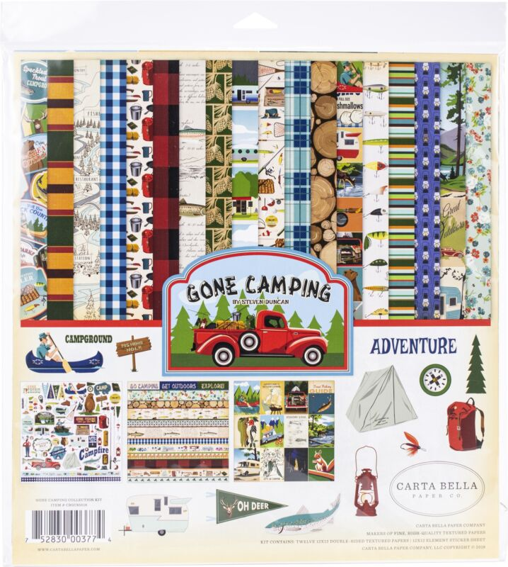 "Carta Bella Collection Kit 12""X12""-Gone Camping"