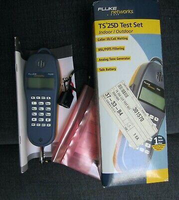 Fluke Ts25d Test Set 346a Plug Original Box Never Used