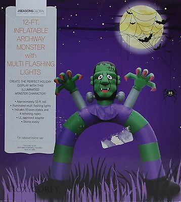 4Seasons 12 ft Halloween Monster with Flashing Archway Airblown Inflatable