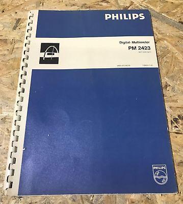 Bedienungsanleitung Gebrauchsanleitung  für Philips Digital Multimeter PM 2423