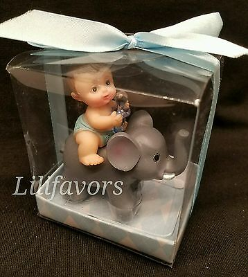 1PCS Baby Shower Favors Party Decoration Its a baby Boy blue  Elephant Keepsake.
