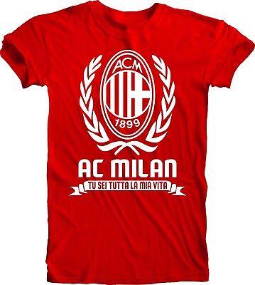 Ac Milan Soccer Shirts -  AC Milan Italy Italia Soccer Calcio Futbol T Shirt Camiseta Milan Serie A Italy