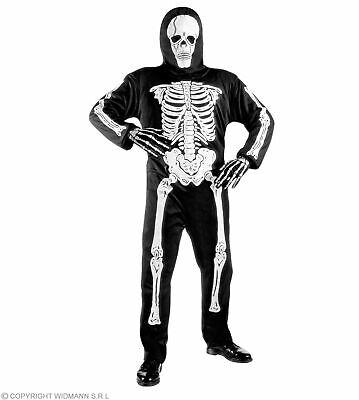 Kinderkostüm Skelett, Anzug +Maske Kinder Skelettkostüm - Skelett Halloween Kostüm Kind