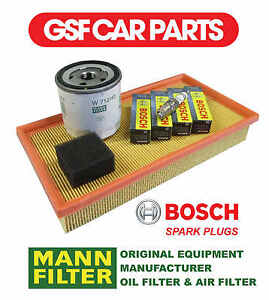 Service Kit Oil Air Filters & Spark Plugs Replacement Part Ford Ka 1.0I 1.3I