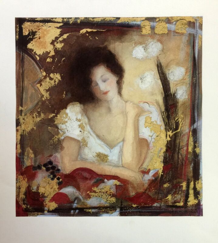 "Janet Treby ""florentine I""   Signed Serigraph   24 X 19""   British   Gallart"