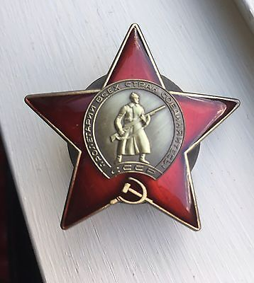 WW2 USSR RUSSIAN SOVIET ORDER OF THE RED STAR MEDAL