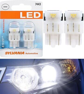 Sylvania Premium LED Light 7443 White 6000K Two Bulbs Front Turn Signal Lamp Fit