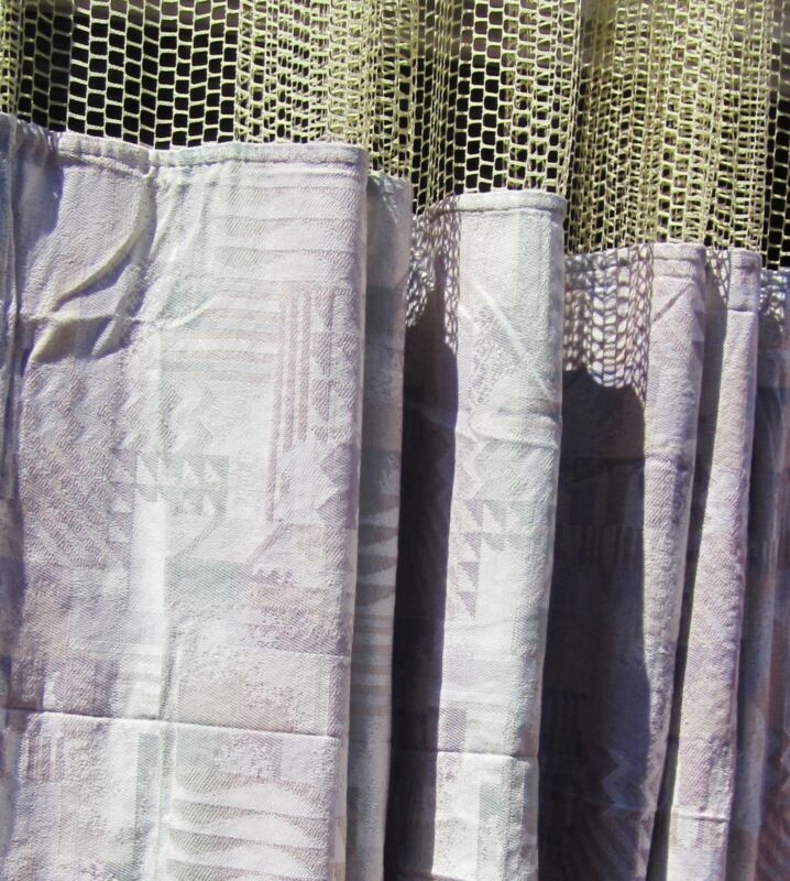 LOT OF 3 - (Pattern AE) - HOSPITAL PRIVACY/CUBICLE CURTAINS - FLAME RETARDANT