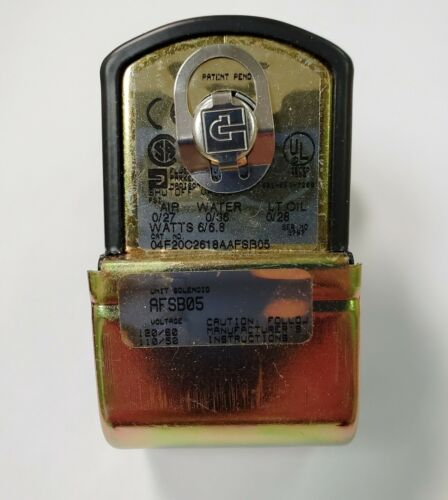 Parker Hannifin Gold Ring 2-Way Complete Solenoid Valve, P/N 04F20C2618AAFSB05