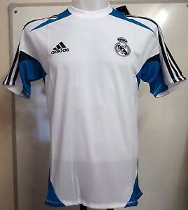 REAL MADRID 2012/13 WHITE TRAINING SHIRT BY ADIDAS SIZE 36/38 INCH CHEST BNW
