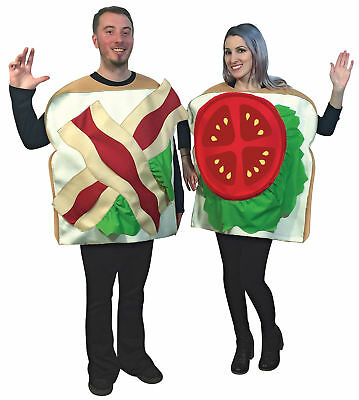 Couples Costumes BLT Adult Bacon Lettuce Tomato - Halloween Costumes Adults Couples
