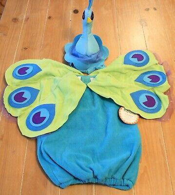 New Pottery Barn Kids PEACOCK Bird Costume Girls Kids Size 2T-3T - Peacock Girl Child Costume