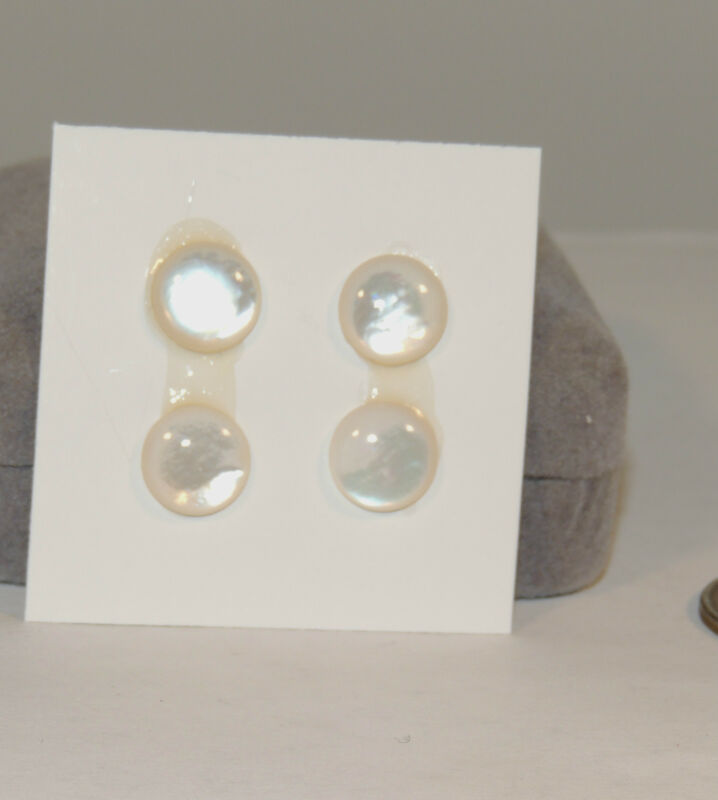 Mother of Pearl Cabochons 10mm  with 3mm dome set of 4 (4497)