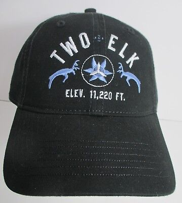 Two Elk Vail Lodge Hat Cap Colorado Usa Embroidery Unisex New