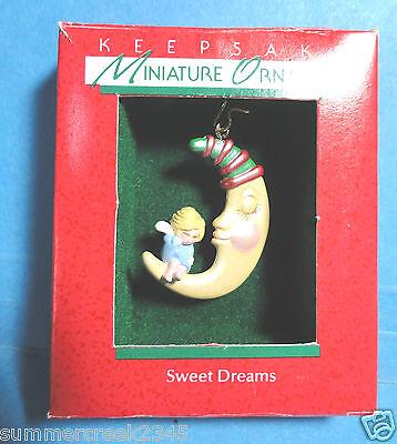 "Hallmark ""Sweet Dreams"" Miniature Ornament 1988"