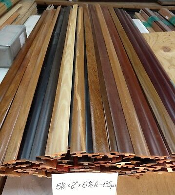 T-molding. Solid wood. Pre-finished in many stain colors. Flooring. 39 in long Color Finished Solid Wood