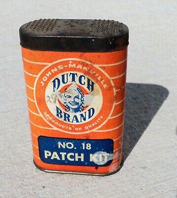 Vintage Dutch Brand bicycle motorcycle Tire Tube Repair Kit Tin Can