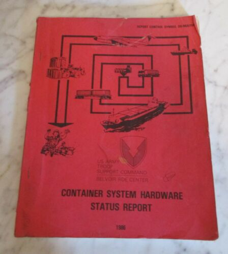 Shipping Freight Container Equipment Size Weight  Manual Book 1986