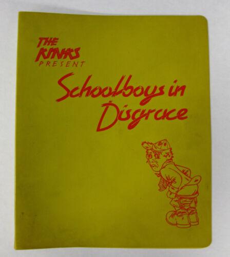 The KINKS Schoolboys In Disgrace 1975 US PROMO Only School NOTEBOOK Mickey Finn