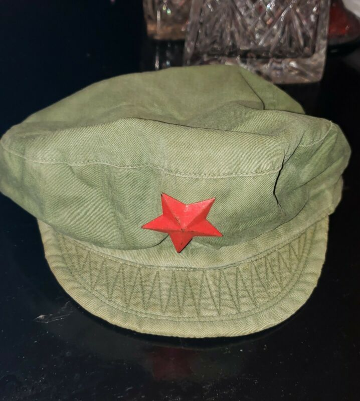 Original Cultural Revolution 1960s PLA Red Guards Cap with Star Badge China