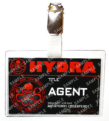 Hydra Agent ID Badge Agents of Shield Cosplay Prop Costume Fancy Dress Comic Con