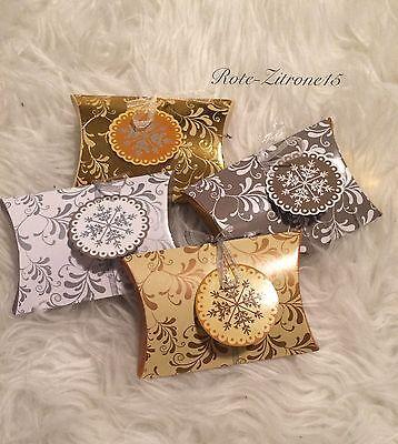 8x Geschenkbox Pillow Box Schachtel Geschenk Verpackung Weihnachten Gastgeschenk