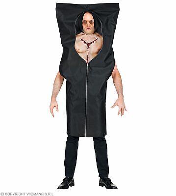 Kostüm Leichensack  in schwarz Gr. L/XL  Halloween - Großen Schwarzen Kostüm