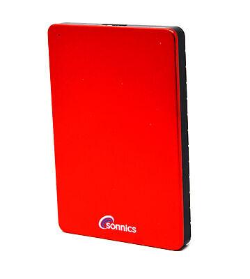 Sonnics 500GB Externe Festplatte Rot USB 3.0, 2,5