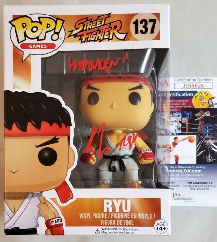 Kyle Hebert RYU Signed Funko Pop 137 Street Fighter JSA COA 624