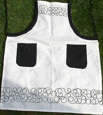 """Lovely Quality Aprons, Deco Black, 24"""" x 31"""", Polyester Reduced To Clear"""