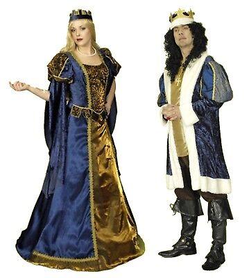 Paar Kostüm KÖNIG KÖNIGIN Damen Herren Kleid inkl Reifrock  (Paar-kostüm)