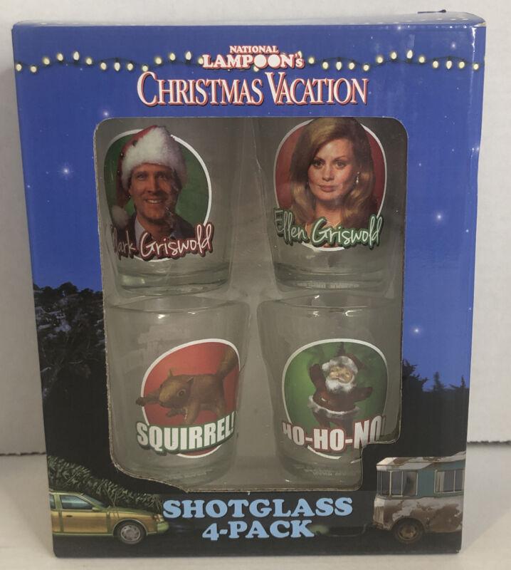 National Lampoons Christmas Vacation Shotglass Set  4 Pack