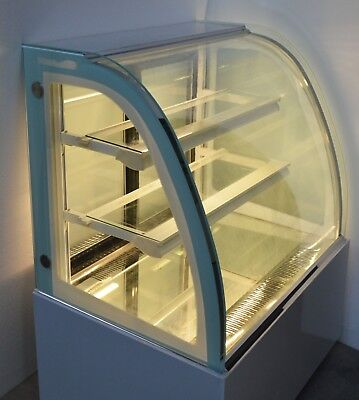 Refrigerated Bakery Display Cabinet Floor Cake Bakery Deli Cooling Showcase 220v