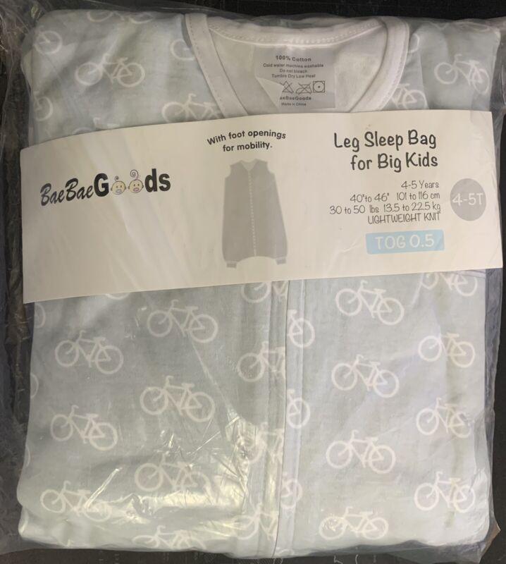 BaeBae Goods - Leg Sleep Bag For Big Kids - 100% Cotton 4/5T - 2 Pack!