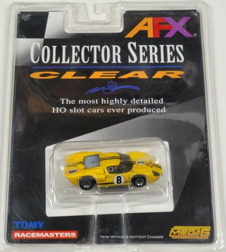 Tomy Mega G - Ford GT40 MKII - HO Scale Slot Car #8 - Yellow - New