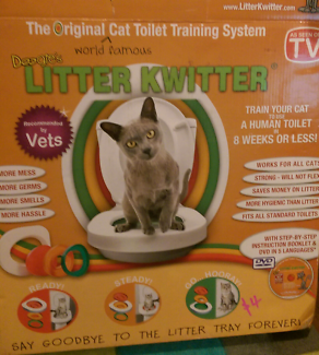 Litter Kwitter cat toilet training set