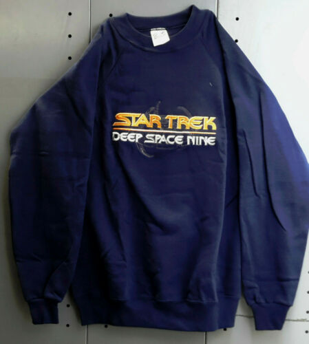 Vintage Star Trek Deep Space 9 Space Station Embroidered Sweatshirt-Size Choice