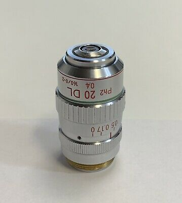 Nikon 20x Dl Ph2 Phase Contrast Microscope Objective W Correction Collar 160mm