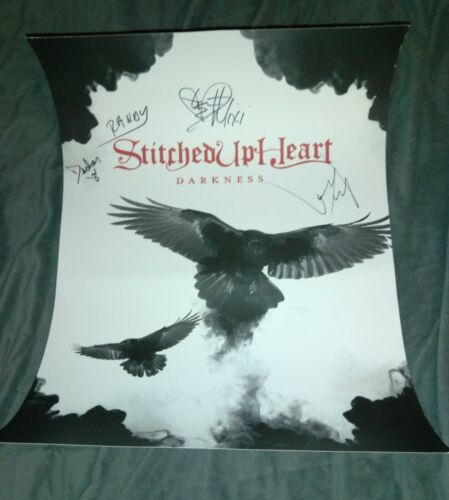 STITCHED UP HEART SIGNED DARKNESS CD POSTER NEVER ANYONE Alecia MIXI DEMNER COA