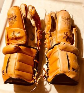 Vintage Spalding Hockey Gloves