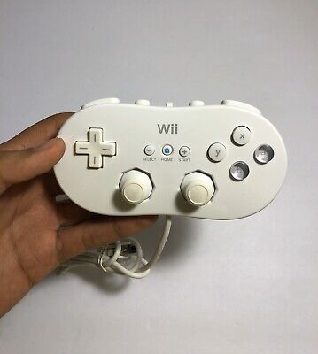 Genuine Nintendo Wii Classic Controller Gamepad RVL-005 White Tested WORKING