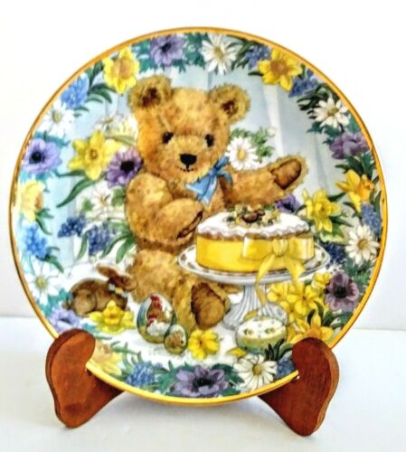 """Franklin Mint Heirloom Collection 8"""" Plate """"TEDDY"""