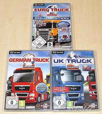 3 PC SPIELE SAMMLUNG GERMAN TRUCK GOLD EURO TRUCK UK TRUCK SIMULATOR - TRUCKER (Truck Simulator Pc Spiele)