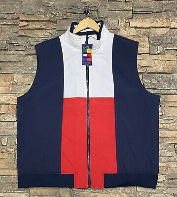 Tommy Hilfiger Archives Collection Big Flag Logo Vest Jacket Size XXL $89.50