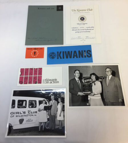 1972-1973 Wilmington NC KIWANIS INTERNATIONAL photos,brochure, certificate, etc